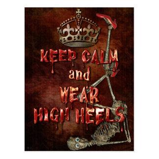 Behalten Sie ruhige Abnutzungs-hohen Heels HORROR Postkarten