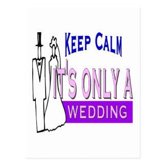 Behalten Sie ruhige Hochzeit Postkarten