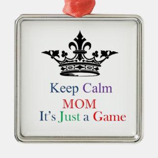Behalten Sie ruhige Mamma Quadratisches Silberfarbenes Ornament