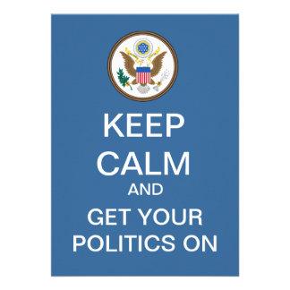 BEHALTEN Sie RUHIGE politische Debatten-Party Personalisierte Ankündigung
