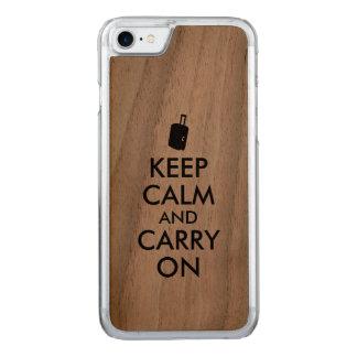Behalten Sie ruhige Reise-hölzernes Telefon Carved iPhone 8/7 Hülle