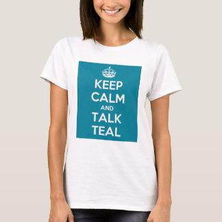 Behalten Sie ruhige sprechende aquamarine Dame T-Shirt