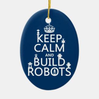 Behalten Sie ruhige und Gestalt-Roboter (in Keramik Ornament