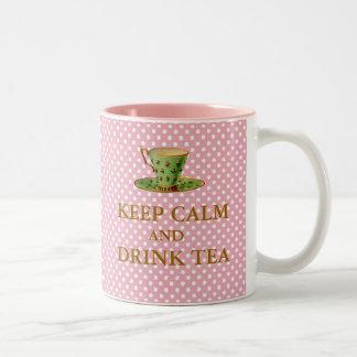 Behalten Sie ruhige und Getränk-Tee-Tasse