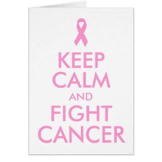 Behalten Sie ruhige und Kampf-Krebs-Karte Grußkarte