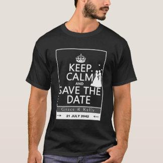 Behalten Sie ruhige und Save the Date lesbische T-Shirt