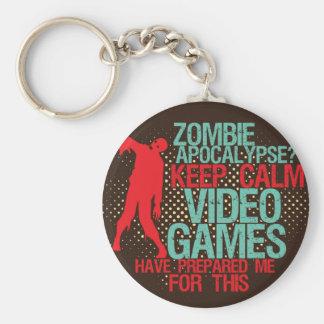 Behalten Sie ruhige Zombie-Apokalypselustige Schlüsselanhänger