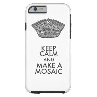 Behalten Sie ruhigen Mosaik-Künstler Tough iPhone 6 Hülle