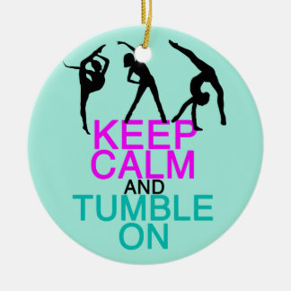 Behalten Sie ruhigen Tumble auf Gymnastik Keramik Ornament