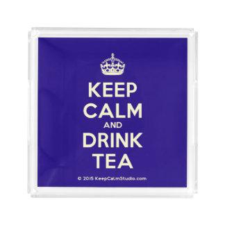 Behalten Sie ruhiger und Getränk-Tee Acryl Tablett