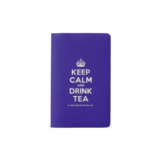Behalten Sie ruhiger und Getränk-Tee Moleskine Taschennotizbuch