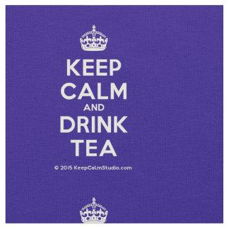 Behalten Sie ruhiger und Getränk-Tee Stoff
