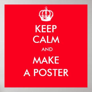 behalten Sie ruhiges kundengerechtes Poster
