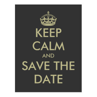 Behalten Sie ruhiges Save the Date Postkarte |