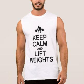 Behalten Sie ruhiges u. Aufzug-Gewichts-Shirt - Ärmelloses Shirt