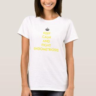 Behalten Sie ruhiges und Kampfendometriosis-Shirt T-Shirt