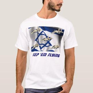 Behalten Sie sie fliegendes Israel T-Shirt