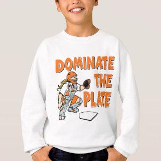 Beherrschen Sie die Platte, orange Sweatshirt