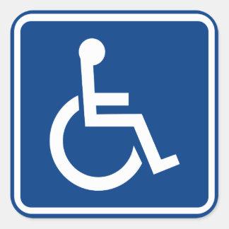 Behinderter Rollstuhl-zugängliches Zeichen Quadratischer Aufkleber