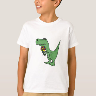 BEI T-Rex mit einem Lutscher-T - Shirt