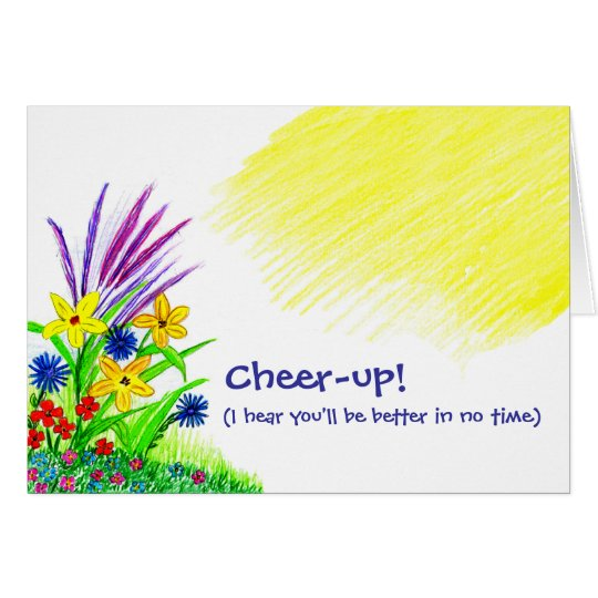 Beifall-oben Blumenstrauß Grußkarte