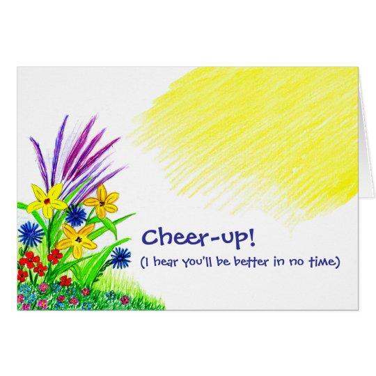 Beifall-oben Blumenstrauß Karte