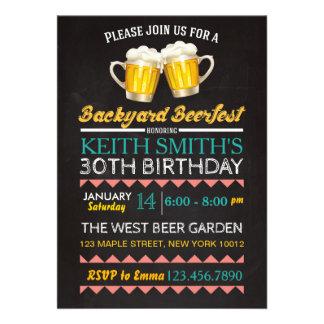 Beifall-u. Bier-Geburtstags-Einladung - irgendein 12,7 X 17,8 Cm Einladungskarte