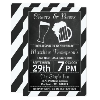 Beifall-u. Bier-Tafel-Junggeselle-Party 12,7 X 17,8 Cm Einladungskarte