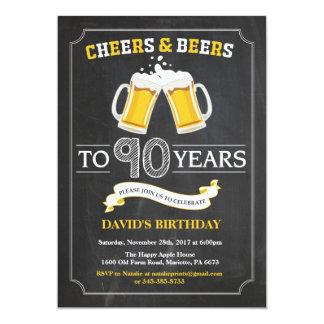 Beifall-und Bier-90. Geburtstags-Einladungs-Karte Karte