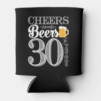 Beifall und Biere zu 30 Jahren machen cooleres ein Dosenkühler