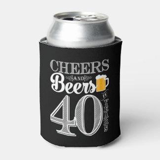 Beifall und Biere zu 40 Jahren machen cooleres ein Dosenkühler
