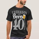 Beifall und Biere zu den 40 Jahren der T - Shirt
