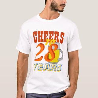 Beifall zu 28 Jahren Bier-Geburtstags-Party- T-Shirt