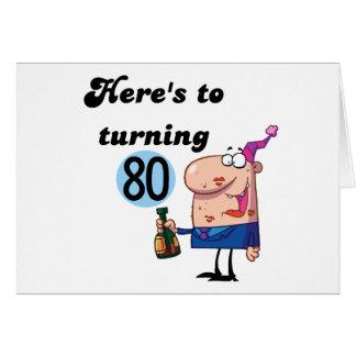 Beifall zu 80 Geburtstags-T-Shirts und Geschenken Grußkarte