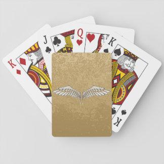 Beige Flügel Pokerkarte