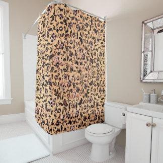 Beige Girly Blumenmuster-Duschvorhänge Duschvorhang