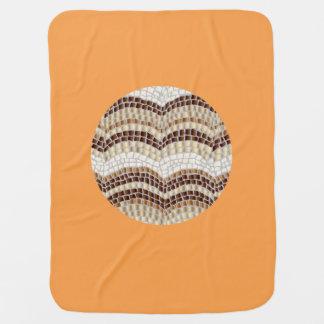 Beige Mosaik-Baby-Decke Kinderwagendecke