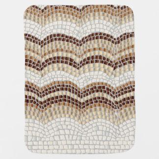 Beige Mosaik-Baby-Decke Puckdecke