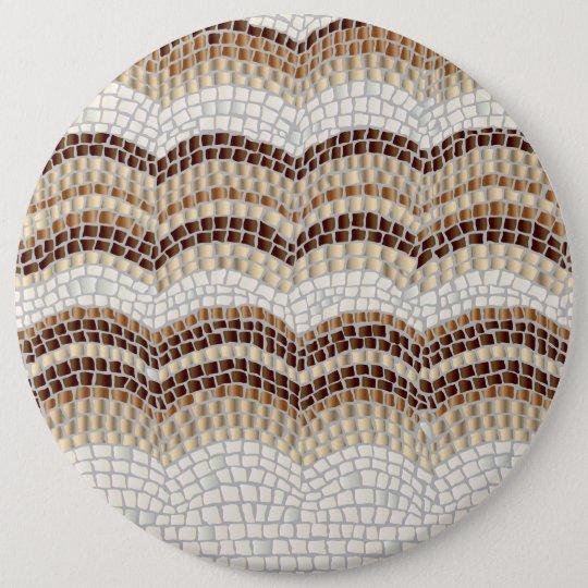 Beige Mosaik-kolossaler runder Knopf Runder Button 15,3 Cm