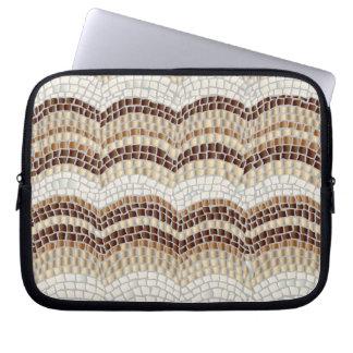 """Beige Mosaik-Laptop-Hülse 10"""" Laptopschutzhülle"""