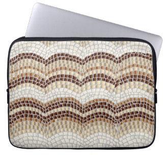 """Beige Mosaik-Laptop-Hülse 13"""" Laptopschutzhülle"""