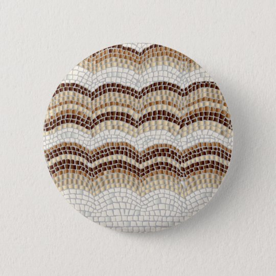Beige Mosaik-runder Standardknopf Runder Button 5,1 Cm