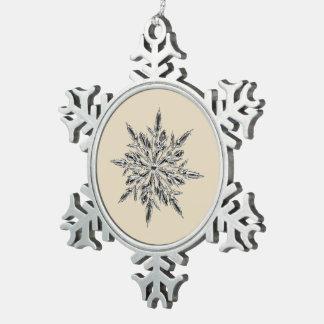 Beige u. Zinn-Schneeflocke-Verzierung Schneeflocken Zinn-Ornament