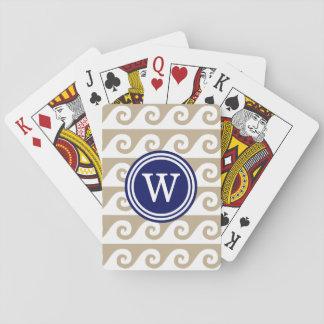 Beige Weiß GK bewegt das runde Blau der Spielkarten