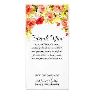 Beileid danken Ihnen Blumen der Karte