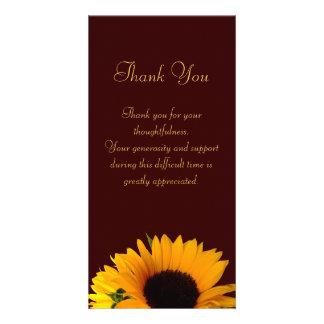 Beileid danken Ihnen Fotokarten