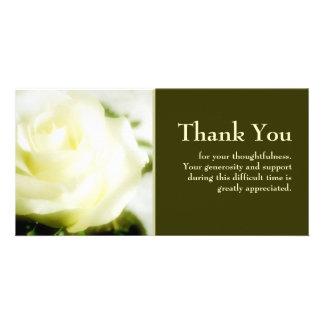 Beileid danken Ihnen Photo Grußkarte