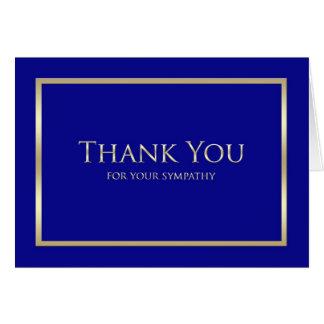 Beileid danken Ihnen zu kardieren -- Klassische Karte