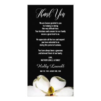 Beileid der Magnolien-Blumenblatt-| danken Ihnen Karte