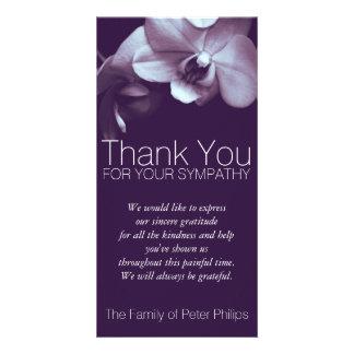 Beileid der Orchideen--3b- danken Ihnen Foto-Karte Fotokartenvorlagen